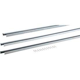 M-D Universal Door Jamb Weatherstrip 3 Piece Kit, 01040, Silver, includes hardware for install