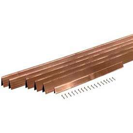 "M-D H-4 ""V"" Shaped Bronze Weatherstrip Set, 01305, Bronze 15/16""W, Enough for 1 Door"