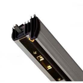 "M-D Aluminum Locking Slide Bolt Combination Astragal, 01560, Clear Anodized, 80"""
