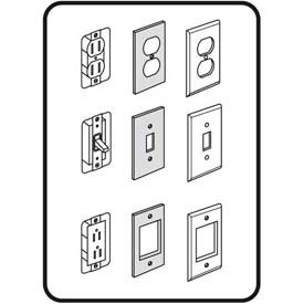 M-D Light Switch Closed-Cell Foam Sealer, 03434, White, 6/Pack