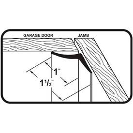 M-D Vinyl Garage Door Seal for Top & Sides, 03822, White, 30' by