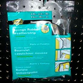 """M-D Premium Sponge Rubber Weatherstrip Tape, 06635, Black, 3/8""""T x 3/4""""W x 10'L"""