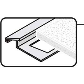 """M-D Tile Edge Reducer 07419, 96""""L, Sating Clear Anodized"""