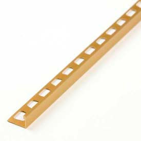"M-D L-Shaped Tile Edging 10850, 96""L, Bright Dipped Brass"