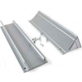 "M-D Mail Slot 28555, Aluminum, Flap & Hood, 13""W, Silver"