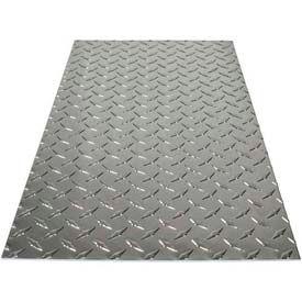 """M-D Aluminum Sheet, Diamond Tread, 56022, 24""""L X 12""""W X 0.73""""H, Silver"""