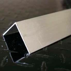 "M-D Aluminum Angle Equal Leg, 59253, 96""L X 1-1/4""W X 1-1/4""H X 1/8""D, Silver, D#0235"