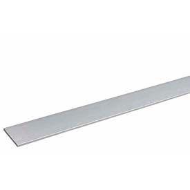 "M-D Aluminum Flat Bar, 60772, 48""L X 1/2""W X 1/8""H, Silver, D#0278"