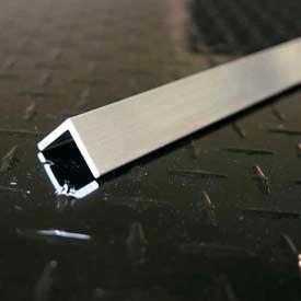 "M-D Aluminum Angle Equal Leg, 60822, 48""L X 1-1/4""W X 1-1/4""H X 1/8""D, Silver, D#0235"