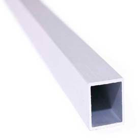 "M-D Square Tubing, 61317, 72""L X 1""W X 1/16""H, Silver, D#0377"