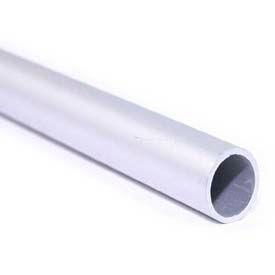"M-D Aluminum Round Tubing, 61665, 48""L X 3/4""W X .055""H, Silver, D#0382"