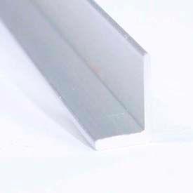 "M-D Aluminum Angle Equal Leg, 62158, 96""L X 1""W X 1""H X 1/8""D, Silver, D#0234"