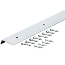 """M-D Decorative Aluminum Edging With Screws 66407, 72""""L, For 1-1/8"""" Thickness, Polished"""