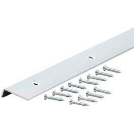 "M-D Decorative Aluminum Edging With Screws 67371, 96""L, For 3/4"" Thickness, Polished"