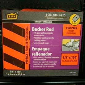 "M-D Backer Rod Pro Pack, 71552, Gray, 5/8"" x 150'"