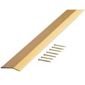 "M-D Carpet Trim Wide, Smooth, 72256, 72""L, Satin Brass, Screw Nails"