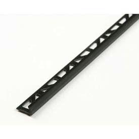 "M-D Ceramic Tile Trim 73804, PVC Tile Cap, 98""L, Black"