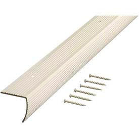 "M-D Stair Edging, Fluted, 74732, 72""L, Almond, Screw Nails"