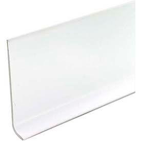 """M-D Wallbase/Dry Back, 75697, 48""""L X 2-1/2""""W, White"""