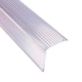 """M-D Stair Edging, Fluted, 78022, 36""""L, Silver, Screw Nails"""