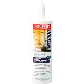 Dupont Kitchen & Bath Sealant W/Teflon, 07821, Clear, 10.1 Oz - Pkg Qty 12