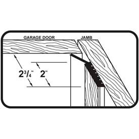 M-D Dual Vinyl Garage Door Seal for Top & Sides, 87700, White, 9' Long