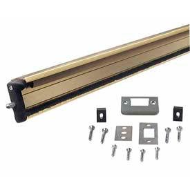 "M-D Aluminum Locking Slide Bolt Combination Astragal, 87809, Brite Gold, 80"""