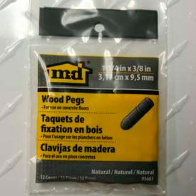"""M-D Wooden Pegs For Concrete Floors 95661, 1-1/4"""" X 3/8"""" Dia., Unfinished"""