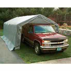 House/ Peak Style One Car Garage 12'W x 20'L x 8'H - Gray