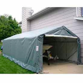 Green Peak Style 12'W x 24'L x 8'H Extended Garage