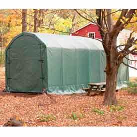 Green 12'W x 28'L x 12'H Barn Style Portable Building
