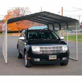 Gray 12'W x 20'L x 8'H  Steel Carport