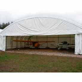 40'W x 60'L x 18'H Truss-Style Dome Building, White