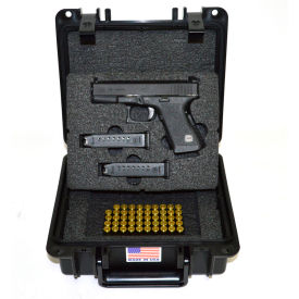 "Quick Fire Pistol Case With Glock Inserts QF300BKG2 Watertight, 10-11/16""x9-3/4""x4-13/16"" Black"
