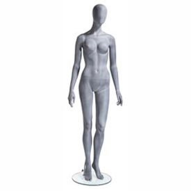 UBF-1 Female Mannequin - Oval Head, Arms at Side, Left Leg Slightly Bent -Natural