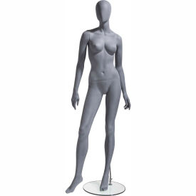 UBF-2 Female Mannequin - Oval Head, Arms by Side, Turned at Waist, Right Leg Forward -Natural