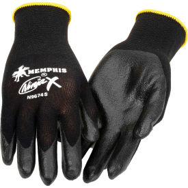 Ninja X Bi-Polymer Coated Palm Gloves, Memphis Glove N9674L, 1-Pair