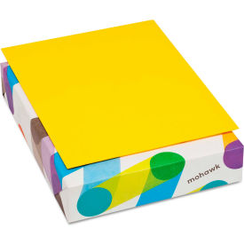 """Colored Paper - Mohawk 472808 - Sun Yellow - 8-1/2"""" x 11"""" - 500 Sheets"""