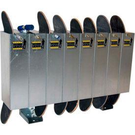 Single-Sided Skateboard Lockers, Holds 8 Skateboards/Scooters