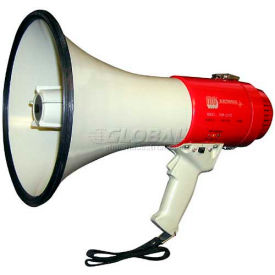 25 Watt Piezo Dynamic Megaphone With Pistol Grip, Built-In Siren & Whistle