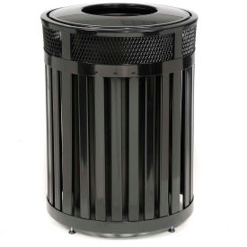 "Round-Open Top Trash Can, Black, 23 gal capacity, 20.5""Dia x 33.5""H"