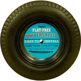 "Marathon Flat Free Tire 00210 - 4.10/3.50-4 Sawtooth Tread - 2.25"" Offset - 5/8"" Bearings"