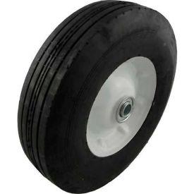 "Marathon 00411 10x2.75 Semi-Pneumatic Ribbed Tread - 2.3"" Centered - 5/8"" Bearings"