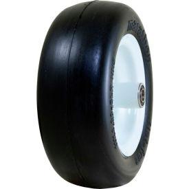 "Marathon Flat Free Tire 01410P - 11x4.00-5 Smooth Tread - 5"" Centered - 3/4"" Bearings"