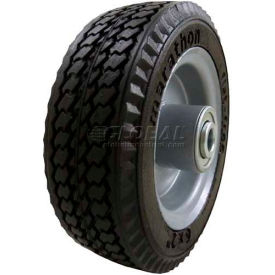 "Marathon 33101 6 x 2 Sawtooth Tread Flat Free - 2.375"" Centered Hub - 1/2"" Bearings"