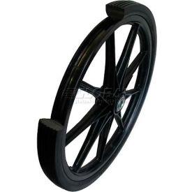 "Marathon 92001 20x2 Flat Free Cart Tire Ribbed Tread - 2.4"" Centered Hub - 3/4"" Bearings"