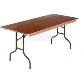 Midwest Folding Plywood Stained Top Banquet Table 30