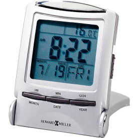 Howard Miller® Portable Travel Digital Alarm Clock - Metallic
