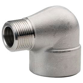 "Ss 304/304l Forged Pipe Fitting 3/8"" 90 Degree Street Elbow Npt Male X Female - Pkg Qty 6"