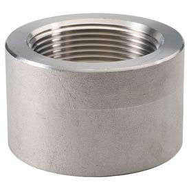 "Ss 304/304l Forged Pipe Fitting 1/4"" Half Coupling Npt Female X Plain - Pkg Qty 45"